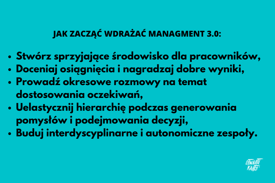 Jak zacząć wdrażać Management 3.0.