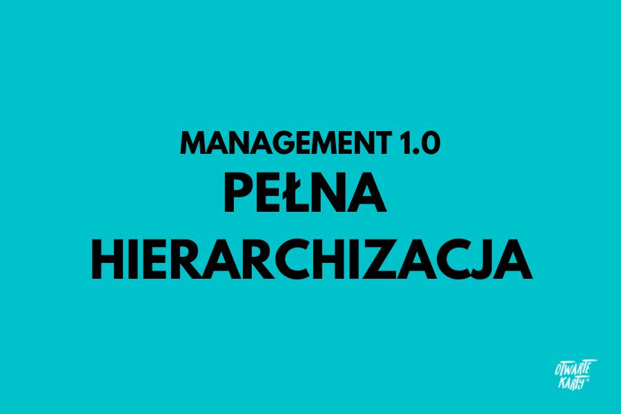 Management 3.0, aManagement 1.0.