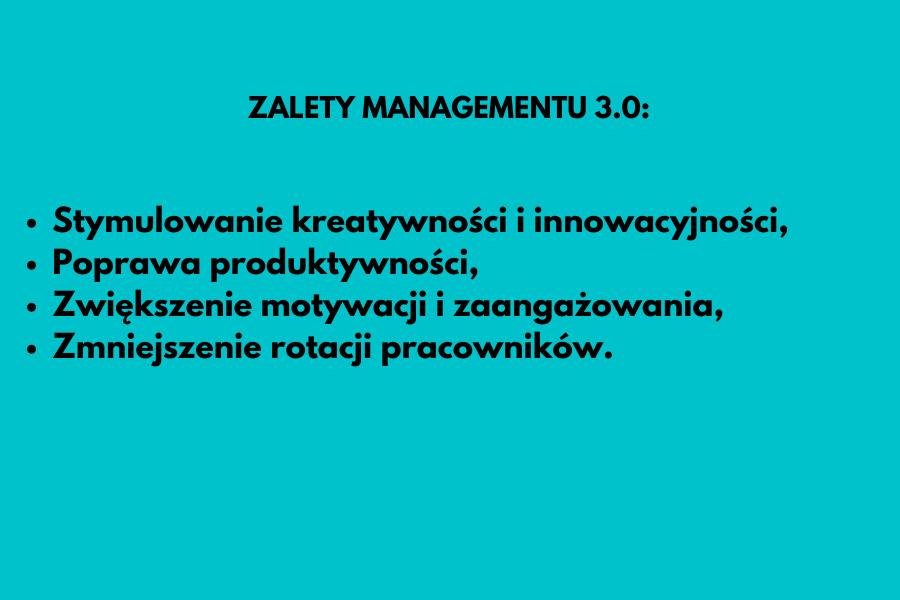 Zalety Managementu 3.0